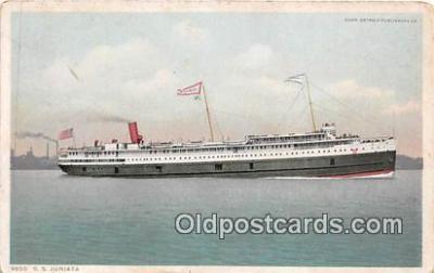 shi045360 - SS Juniata  Ship Postcard Post Card