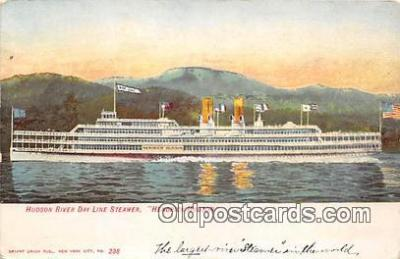 shi045368 - Hudson River Day Line Steamer Hedrick Hudson Ship Postcard Post Card