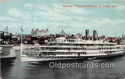 shi045373 - Steamer Hendrick Hudson Albany, NY USA Ship Postcard Post Card