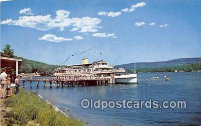 shi045385 - MV Mt Washington Alton Bay, NH USA Ship Postcard Post Card