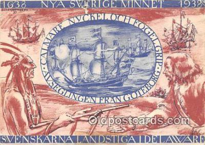 shi045393 - Avseglingen Fran Goteborg Delaware Ship Postcard Post Card