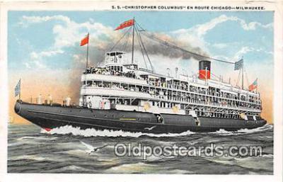 shi045394 - SS Christopher Columbus Milwaukee, Wisconsin Ship Postcard Post Card