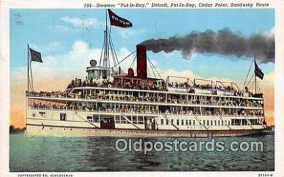 shi045398 - Steamer Put In Bay Cedar Point Ship Postcard Post Card