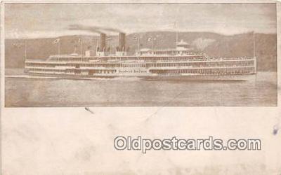 shi045420 - Hudson River Day Line Steamer  Ship Postcard Post Card