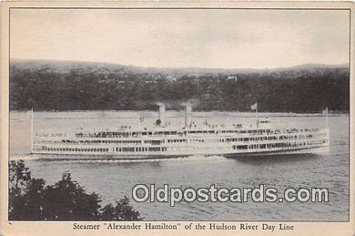 shi045421 - Steamer Alexander Hamilton Hudson River Day Line Ship Postcard Post Card