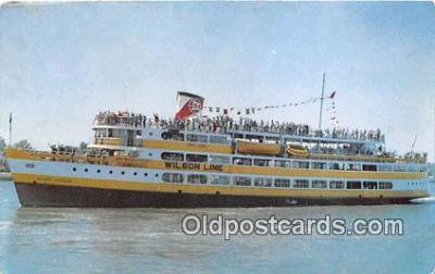 shi045422 - SS Mount Vernon Wilson Lines, New Pier Four Ship Postcard Post Card