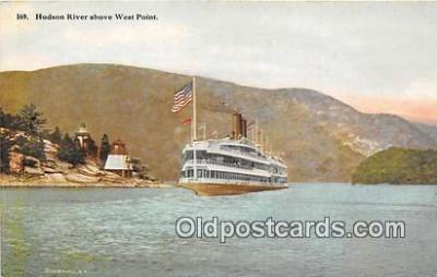 shi045429 - Hudson River West Point Ship Postcard Post Card