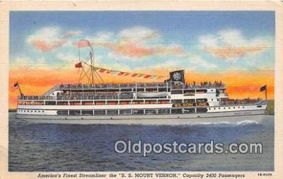 shi045431 - SS Mount Vernon Washington DC USA Ship Postcard Post Card