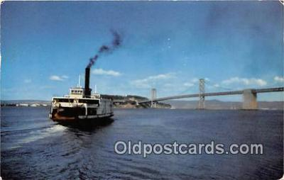 shi045440 - Ferry in Bay East Bay Points, San Francisco USA Ship Postcard Post Card