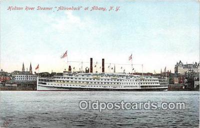 shi045443 - Hudson River Steamer Adirondack Albany, NY USA Ship Postcard Post Card