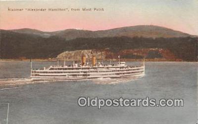 shi045446 - Steamer Alexander Hamilton West Point Ship Postcard Post Card