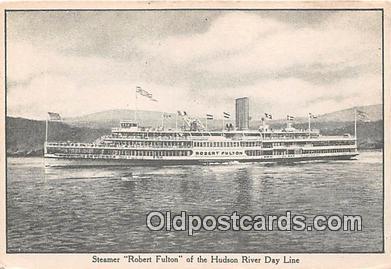 shi045453 - Steamer Robert Fulton Hudson River Day Line Ship Postcard Post Card