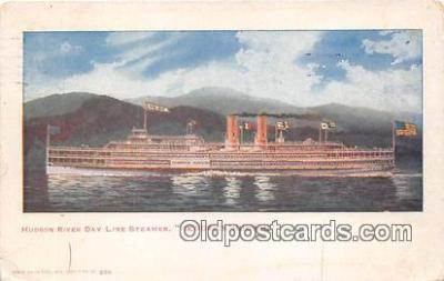shi045463 - Hudson River Day Line Steamer Hendrick Hudson Ship Postcard Post Card