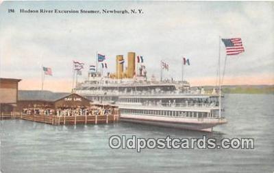 shi045468 - Hudson River Excursion Steamer Newburgh, NY Ship Postcard Post Card