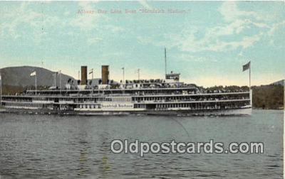shi045469 - Albany Day Line Boat Hendrick Hudson Ship Postcard Post Card