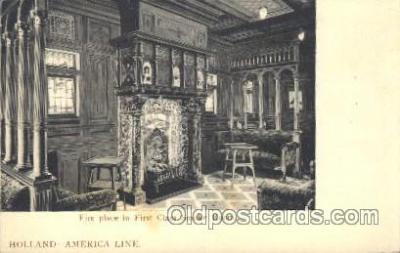 shi050005 - Holland, Smoker room Ship Ships, Interiors, Postcard Postcards