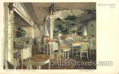 shi050006 - Kaiserin Auguste Victoria, Wintergarten Ship Ships, Interiors, Postcard Postcards