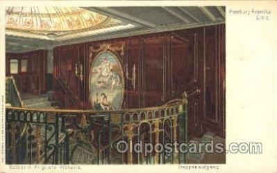 shi050008 - Kaiserin Auguste Victoria,Treppenaufgang Ship Ships, Interiors, Postcard Postcards