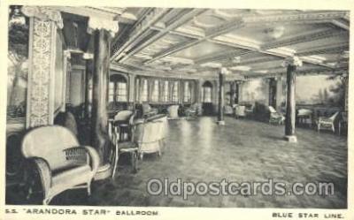 shi050016 - S.S. Arandora star Ballroom Ship Ships, Interiors, Postcard Postcards
