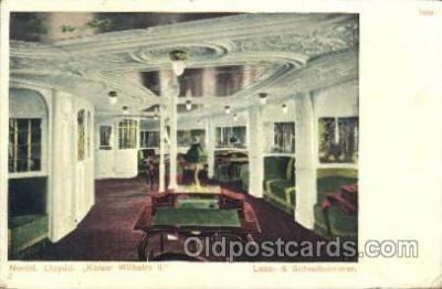 shi050027 - Kaiser Wilhelm II, Lease&Schreibzimmer Ship Ships, Interiors, Postcard Postcards