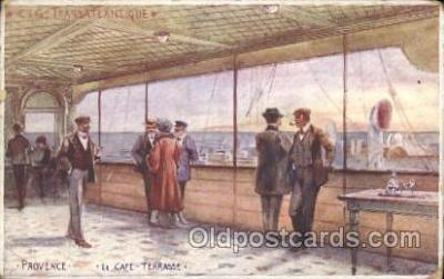 shi050033 - Provence, Le Caf? Terrasse Ship Ships, Interiors, Postcard Postcards