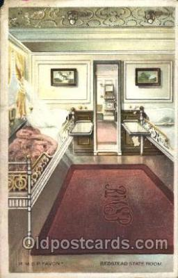 shi050035 - R.M.S.P. Avon, Bedstead State Room Ship Ships, Interiors, Postcard Postcards