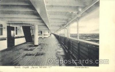 shi050043 - Nordd. Lloydd, Kaiser Wilhelm II, Pomenadendeck Ship Ships, Interiors, Postcard Postcards
