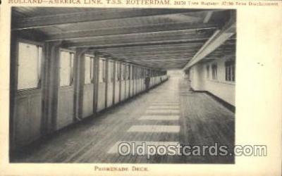 shi050044 - T.S.S. Rotterdam, Promenade Deck Ship Ships, Interiors, Postcard Postcards