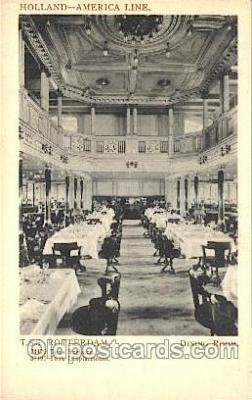 shi050047 - T.S.S. Rotterdam, diming Room Ship Ships, Interiors, Postcard Postcards
