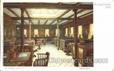 shi050053 - President Lincoln, Rauchsalon Ship Ships, Interiors, Postcard Postcards