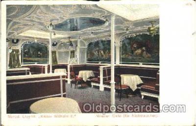 shi050055 - Kaiser Wilhelm II, Winener Caf? Ship Ships, Interiors, Postcard Postcards