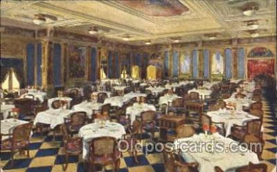 shi050056 - M.N. Augustus, Salone sa Pranzo Ship Ships, Interiors, Postcard Postcards