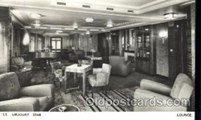 shi050065 - S.S. Uruguay Star Lounge Ship Ships, Interiors, Postcard Postcards