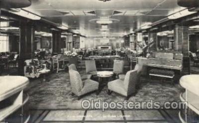 shi050069 - P.&O. Himalaya, First class lounge Ship Ships, Interiors, Postcard Postcards