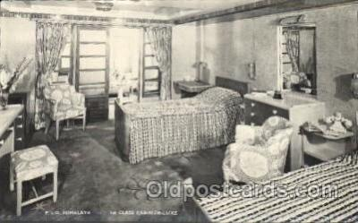shi050071 - P.&O. Himalaya, First class cabin de luxe Ship Ships, Interiors, Postcard Postcards