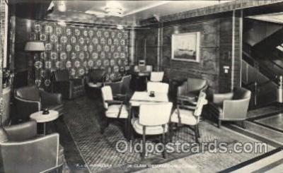 shi050072 - P.&O. Himalaya, First Class observation lounge Ship Ships, Interiors, Postcard Postcards