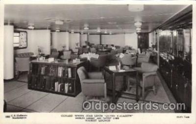 shi050077 - Queen Elizabeth,Tourist Lounge Ship Ships, Interiors, Postcard Postcards