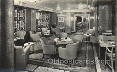 shi050083 - P.&O. Himalaya, the australia room Ship Ships, Interiors, Postcard Postcards