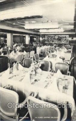 shi050087 - P.&O. Himalaya, First class dining saloon Ship Ships, Interiors, Postcard Postcards