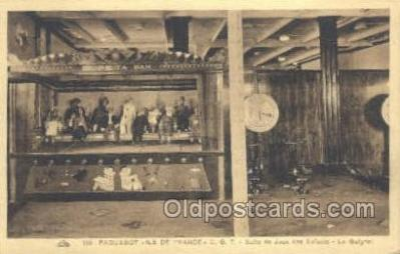 shi050103 - Ile De France French Line, Ship Postcard Postcards