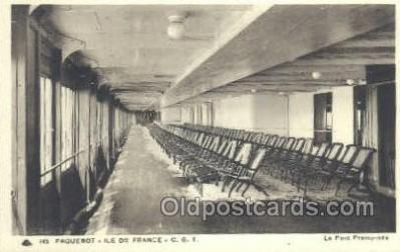 shi050108 - Ile De France French Line, Ship Postcard Postcards