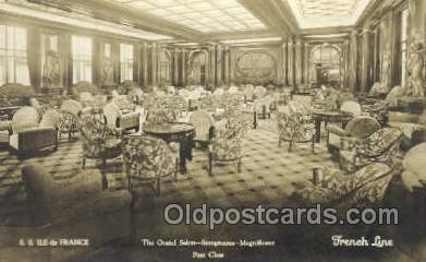 shi050109 - Ile De France French Line, Ship Postcard Postcards