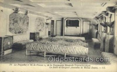 shi050137 - Ile De France French Line, Ship Postcard Postcards
