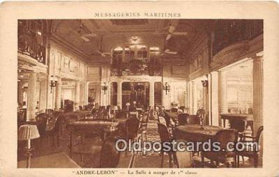 shi050175 - Andre Lebon La Salle a Manger d Classe Ship Postcard Post Card