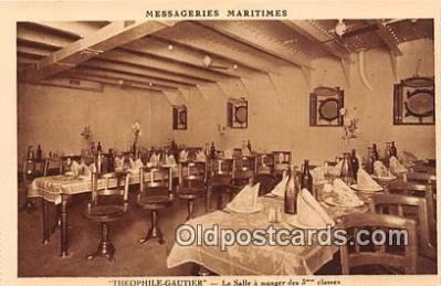 shi050188 - Theophile Gautier, La Salle A Manger des 3 Classes Messageries Maritimes Ship Postcard Post Card