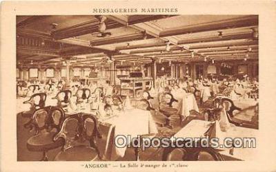 shi050191 - Angkor, La Salle A Manger de 1 Classe Messageries Maritimes Ship Postcard Post Card