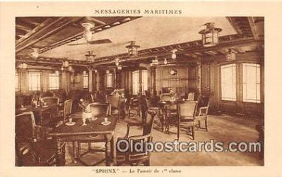 shi050204 - Sphinx, Le Fumoir de 1 Classe Messageries Maritimes Ship Postcard Post Card