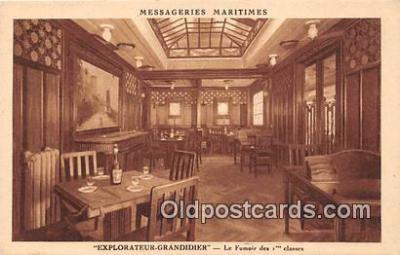 shi050206 - Explorateur Grandidier, Le Fumoir Des 1 Classes Messageries Maritimes Ship Postcard Post Card