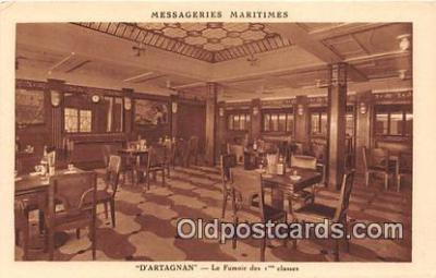 shi050208 - D'Artagnan, Le Fumoir Des 1 Classes Messageries Maritimes Ship Postcard Post Card