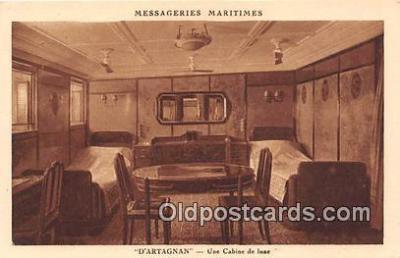 shi050210 - D'Artagnan, Une Cabine de Luxe Messageries Maritimes Ship Postcard Post Card